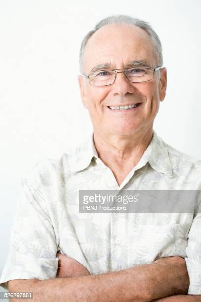 Older Caucasian man smiling