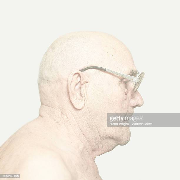 Older Caucasian man wearing glasses