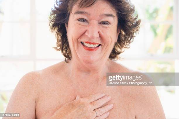 Older Caucasian woman smiling