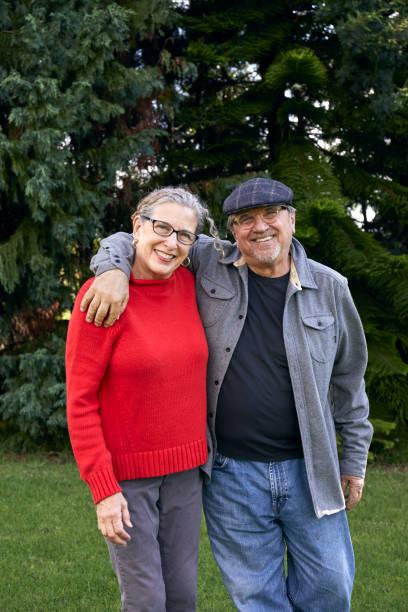 Older Couple Enjoying Retirement Walking in the Park