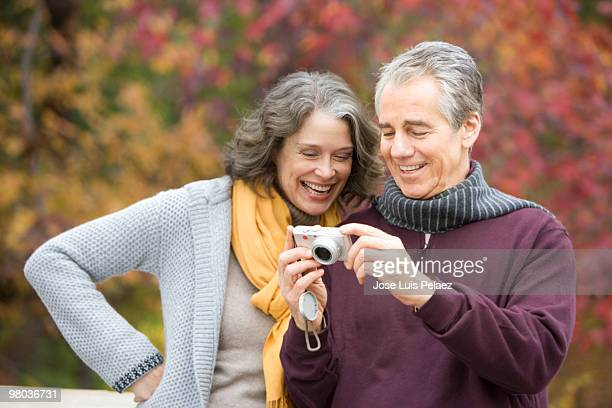 Older couple taking picture