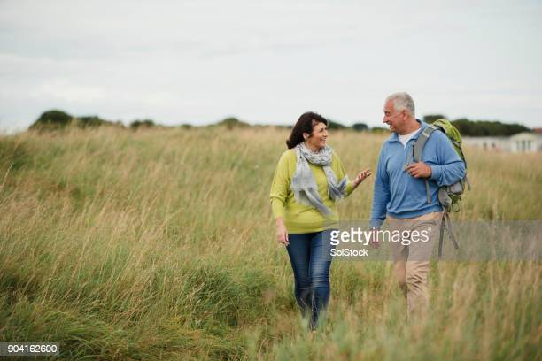 older generation out walking - copy space stock pictures, royalty-free photos & images