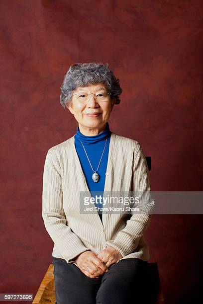 Older Japanese woman smiling