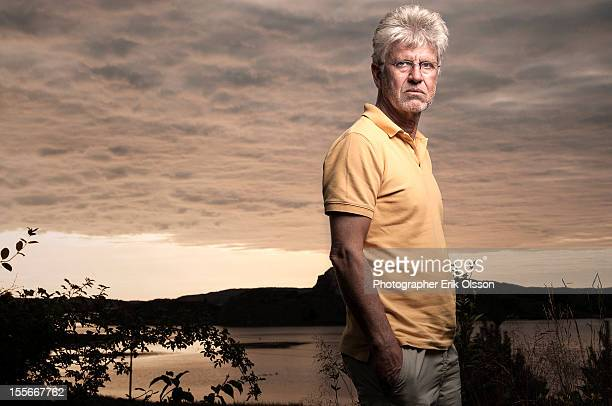 Older man at sunset