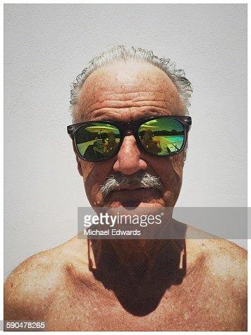 Older man in sun glasses