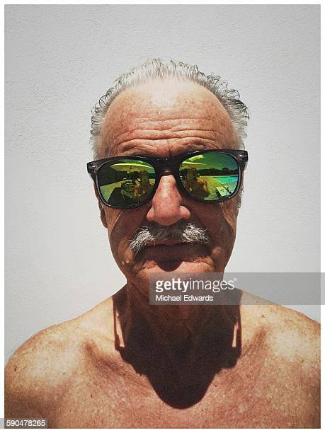 Older man in sun glasses
