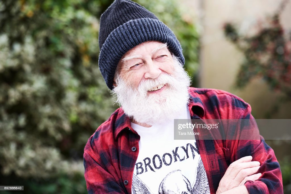 older man laughing : Stock Photo