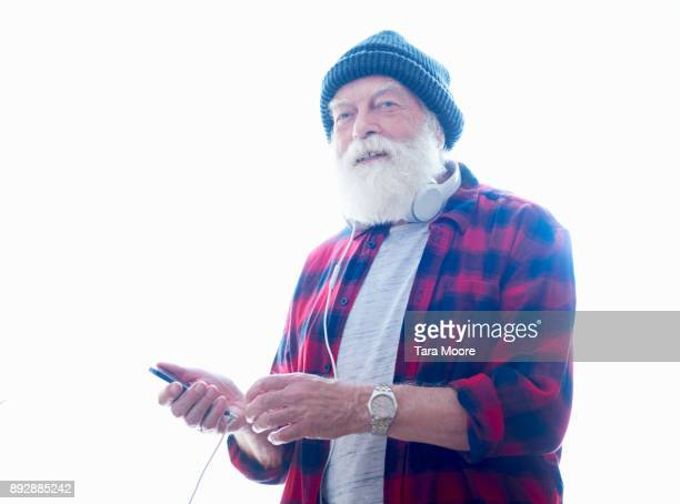 older man with mobile phone