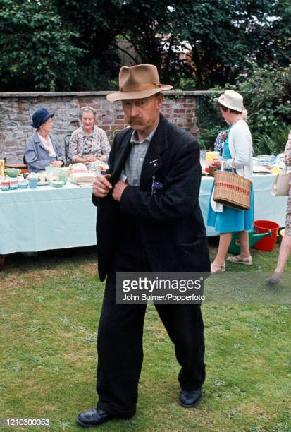 Older village residents enjoying the church fete in the Rectory garden at Pembridge in England circa June 1966 During the summer of 1966 British...
