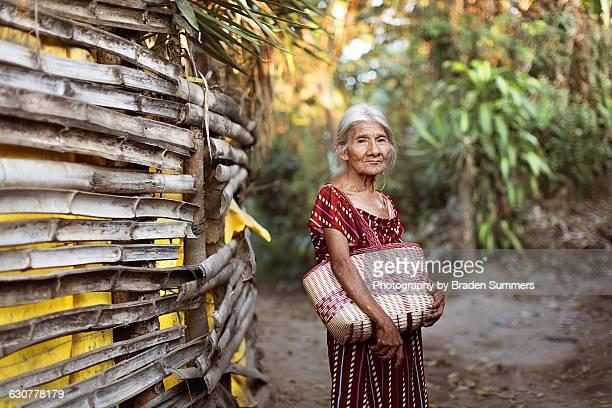 older woman in slums - el salvador stock pictures, royalty-free photos & images