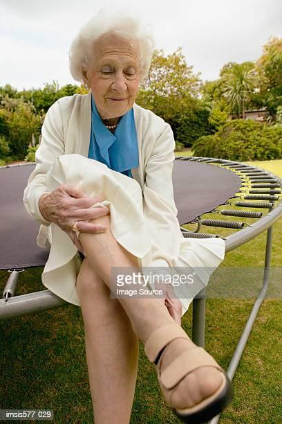 Older woman in the garden