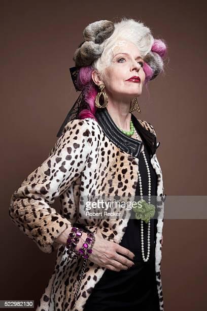 Older woman looking upward