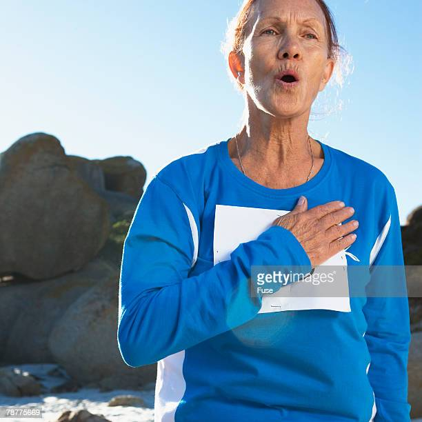 Older Woman Out of Breath