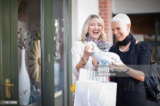 Older women shopping together