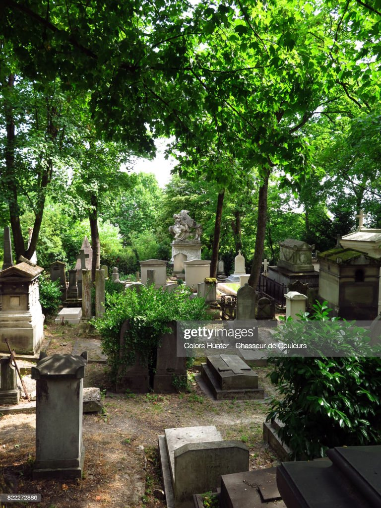 Oldest Pere Lachaise Cemetery : Stock Photo