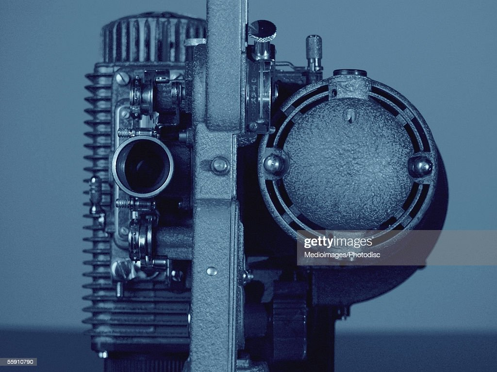 Old-fashioned 8mm film projector : Stock Photo