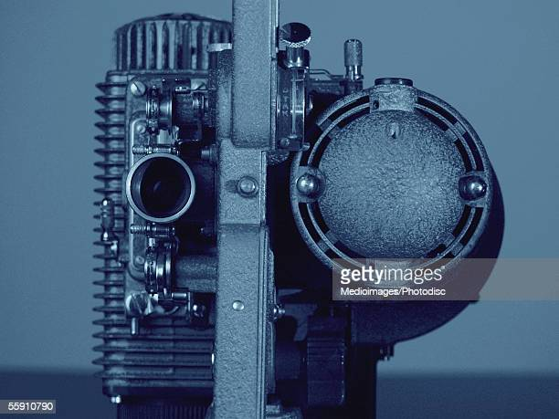 Old-fashioned 8mm film projector
