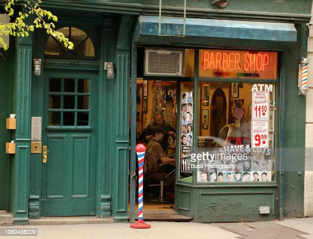 Old-fashioned barber shop in the West Village, Manhattan, New York City, USA