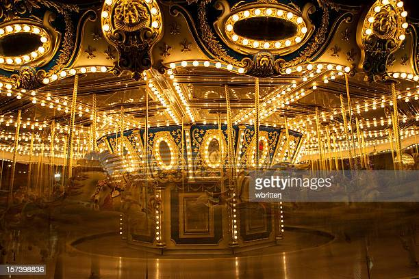 Old-fashioned Carousel or Merry-Go-Round