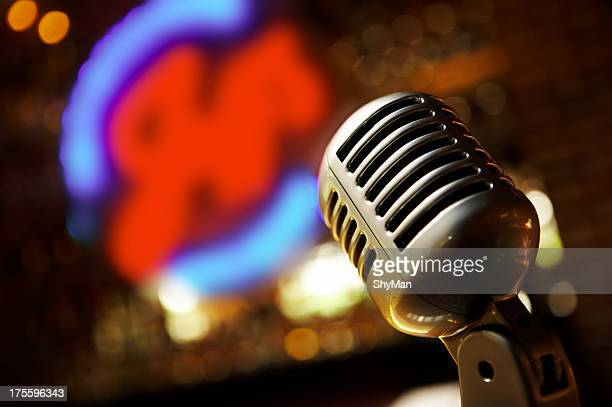 oldfashioned microphone - blues music stock pictures, royalty-free photos & images