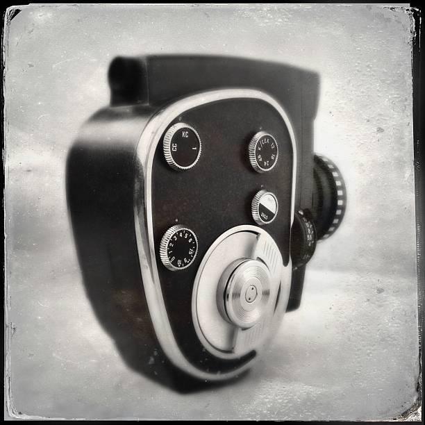 Old-fashioned movie camera