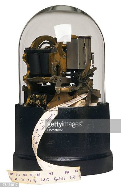 Old-fashioned tickertape machine