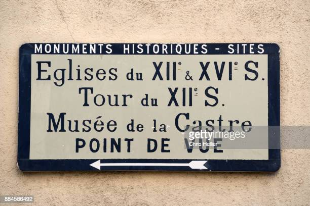 Old-Fashioned Tourist Sign Le Suquet Old Town Cannes