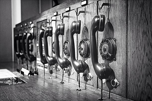 Old-fashioned Wooden Telephone Switchboard Wall Art