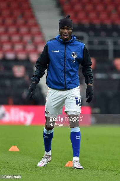Oldham Athletic's Brice Ntambwe before the FA Cup match between Bournemouth and Oldham Athletic at the Vitality Stadium, Bournemouth on Saturday 9th...