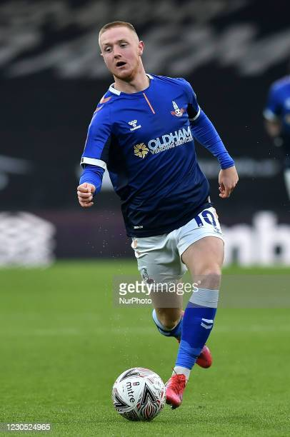 Oldham Athletic's Davis Keillor-Dunn in action during the FA Cup match between Bournemouth and Oldham Athletic at the Vitality Stadium, Bournemouth...