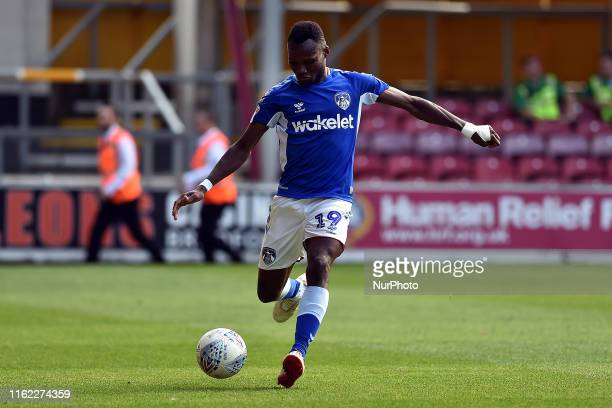 Oldham Athletic's Desire Segbie Azankpo in action during the Sky Bet League 2 match between Bradford City and Oldham Athletic at the Coral Windows...
