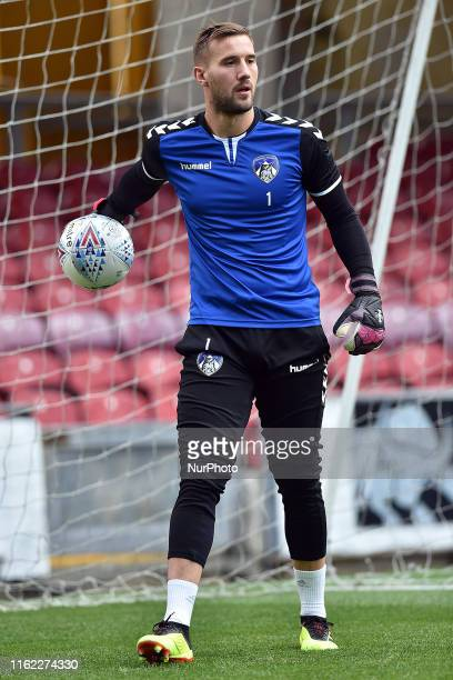 Oldham Athletic's Gary Woods in action during the Sky Bet League 2 match between Bradford City and Oldham Athletic at the Coral Windows Stadium...