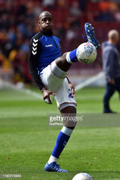 Oldham Athletic's Mohamed Sylla in action during the Sky Bet League 2 match between Bradford City and Oldham Athletic at the Coral Windows Stadium...