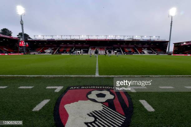 Oldham players on the pitch before the FA Cup match between Bournemouth and Oldham Athletic at the Vitality Stadium, Bournemouth on Saturday 9th...