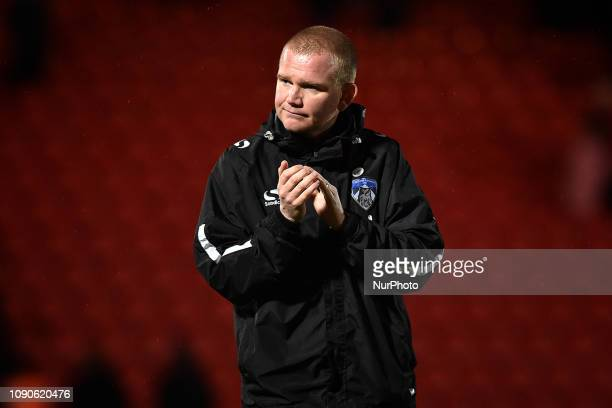 Oldham's catetaker manager Peter Wild after the FA Cup match between Doncaster Rovers and Oldham Athletic at the Keepmoat Stadium, Doncaster on...