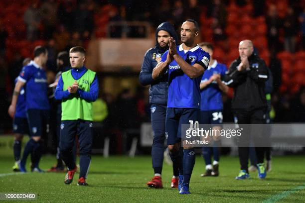 Oldham's Chirs O'Grady after the FA Cup match between Doncaster Rovers and Oldham Athletic at the Keepmoat Stadium, Doncaster on Saturday 26th...