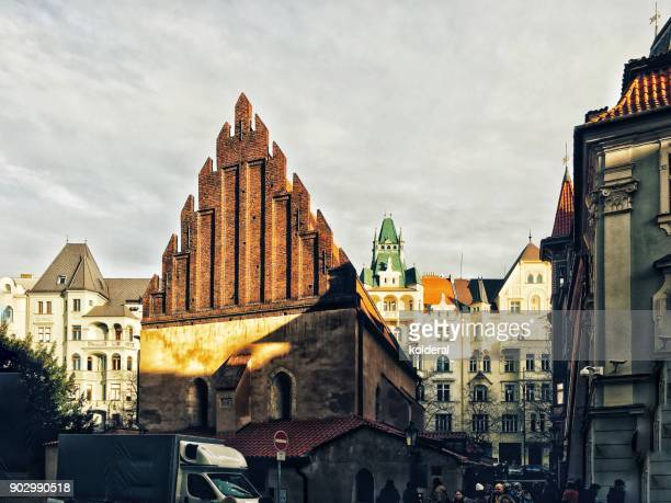 old-new synagogue in josefov jewish quarter of prague - jewish prayer shawl stock pictures, royalty-free photos & images