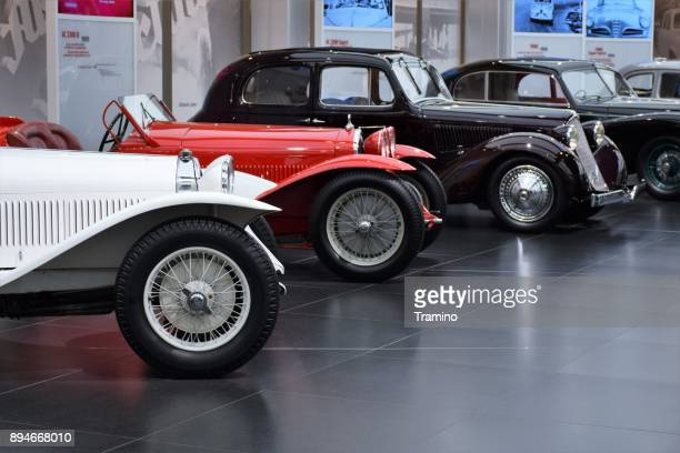 oldtimer alfa romeo vehicles - build grill stock photos and pictures