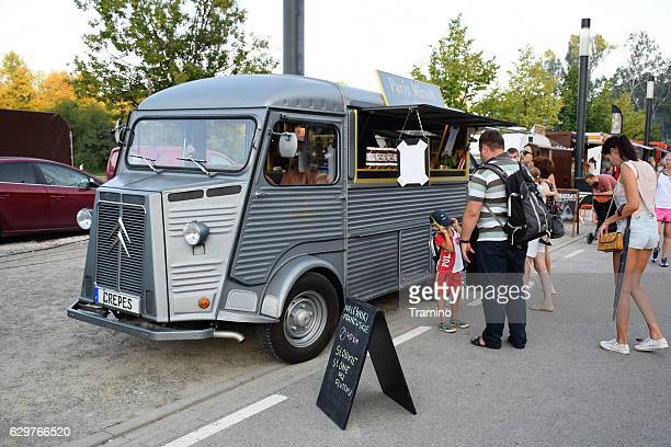 Oldtimer food truck on the street