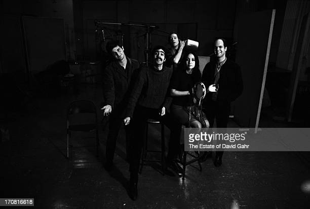 Oldtimey jug band The Jim Kweskin Jug Band pose for a portrait on March 2 1966 in the recording studios of Vanguard Records in New York City New York