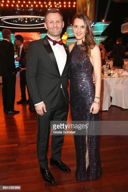 Ole Bischof and his wife Ina Bischof during the 'Sportler des Jahres 2017' Gala at Kurhaus BadenBaden on December 17 2017 in BadenBaden Germany