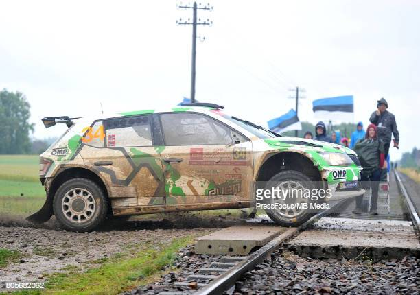 Ole Christian Veiby NOR Stig Rune Skjaermoen NOR Printsport during the WRC Orlen 74 Rally Poland on June 30 2017 in Mikolajki Poland