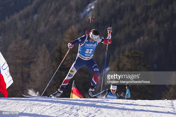 Ole Einar Bjoerndalen of Norway competes during the 20 km men's Individual on January 20 2017 in AntholzAnterselva Italy