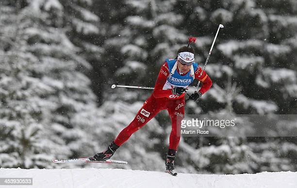 Ole Einar Bjoerndalen of Norway competes in the men's 10km sprint event during the IBU Biathlon World Cup on December 6 2013 in Hochfilzen Austria