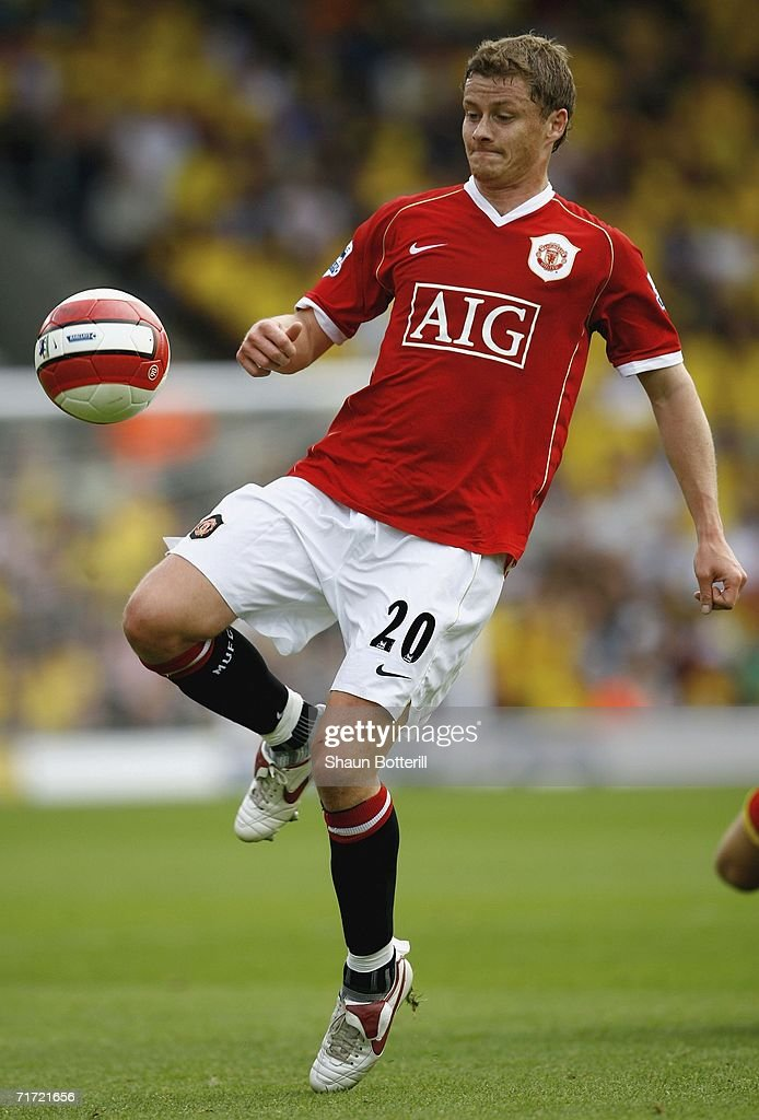 Ole Gunar Solskjaer of Manchester United during the Barclays Premiership match between Watford and Manchester United at Vicarage Road on August 26, 2006 in Watford, England.