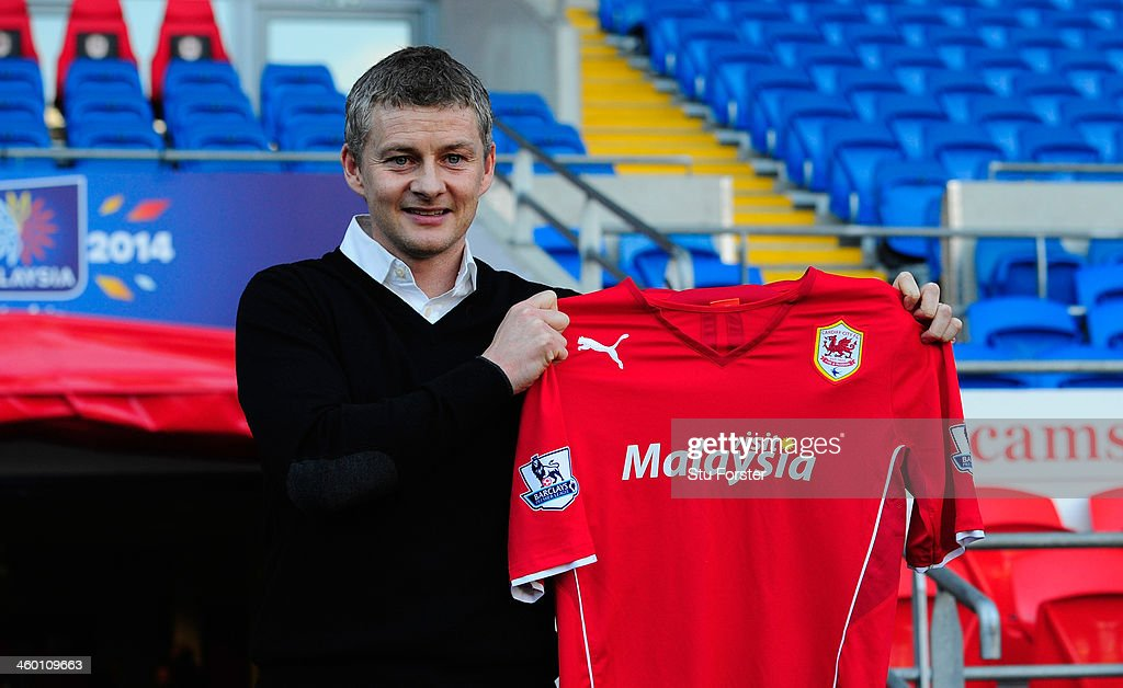 Ole Gunnar Solskjaer Unveiled As New Cardiff City Manager : News Photo