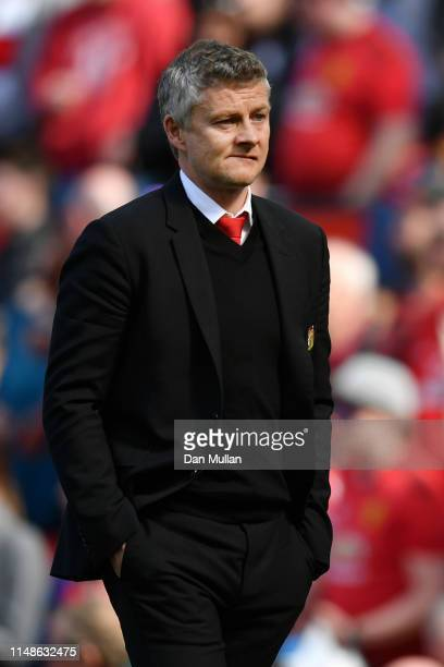 Ole Gunnar Solskjaer Manager of Manchester United looks dejected during the Premier League match between Manchester United and Cardiff City at Old...