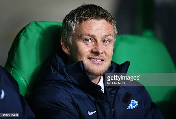 Ole Gunnar Solskjaer manager of Molde looks on during the UEFA Europa League match between Celtic FC and Molde FK at Celtic Park on November 5 2015...