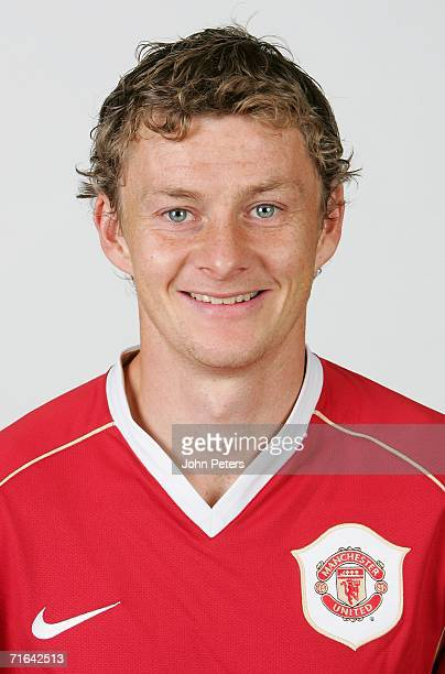 Ole Gunnar Solskjaer of Manchester United poses during an official photocall at Carrington Training Ground on August 10 2006 in Manchester England