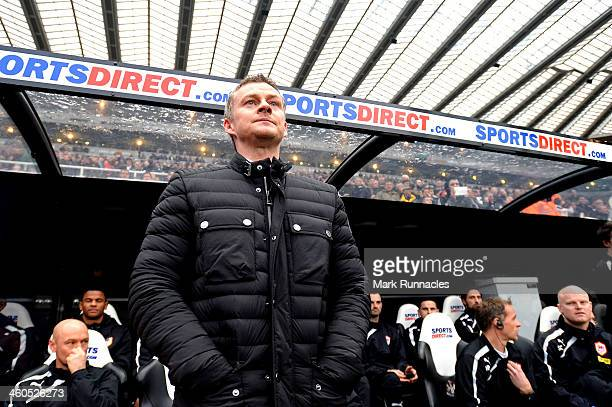 Ole Gunnar Solskjaer the Cardiff manager looks on prior to kickoff during the Budweiser FA Cup third round match between Newcastle United and Cardiff...